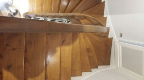 winding stairs, wood restoration
