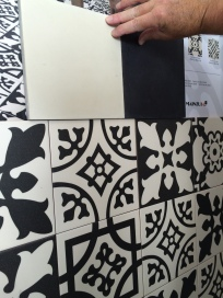 New cement tiles and kitchen tiles