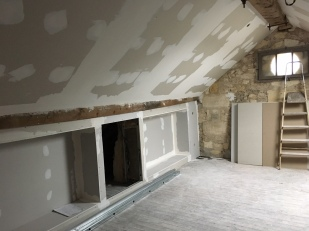 New plaster, old stone walls, beautiful beams