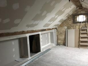 New plaster, old stone walls, beautiful beams