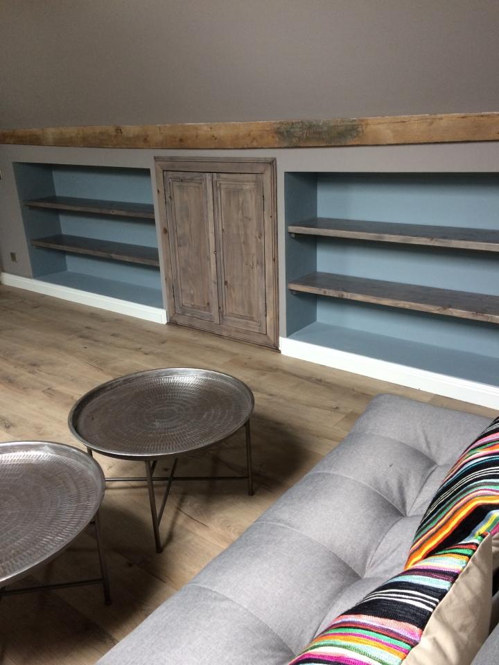 sleep sofas, storage spaces,