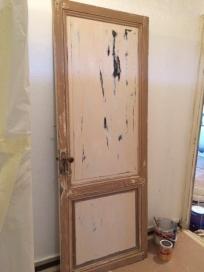 Doors being restored
