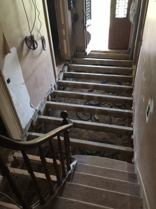 After removal of the entry floor boards