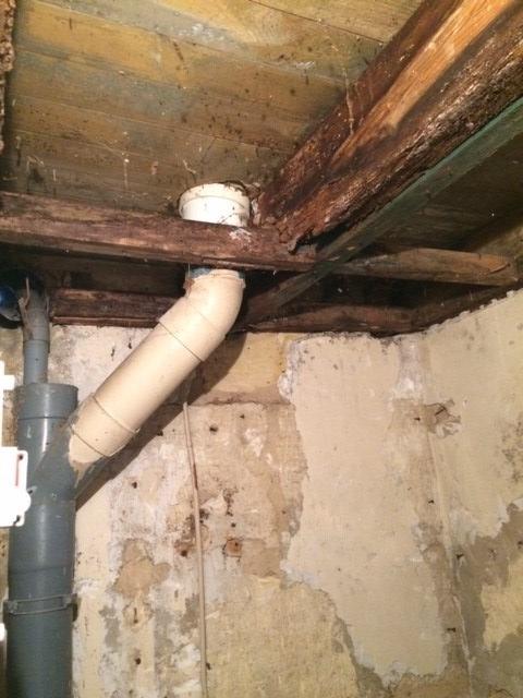 Toilette ceiling