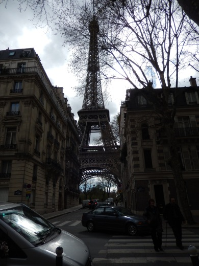 Many a street has this view near the Eiffel.